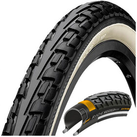 "Continental Ride Tour Bike Tyre 28"", wire bead white/black"